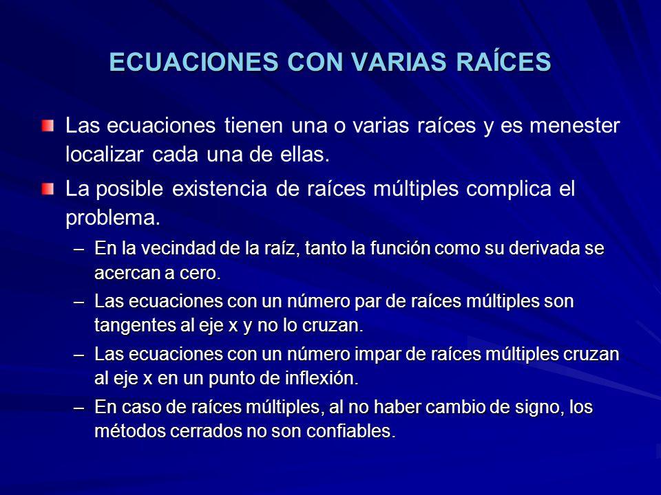 ECUACIONES CON VARIAS RAÍCES