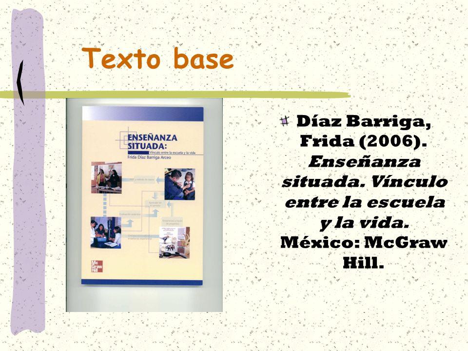 Texto base Díaz Barriga, Frida (2006). Enseñanza situada.