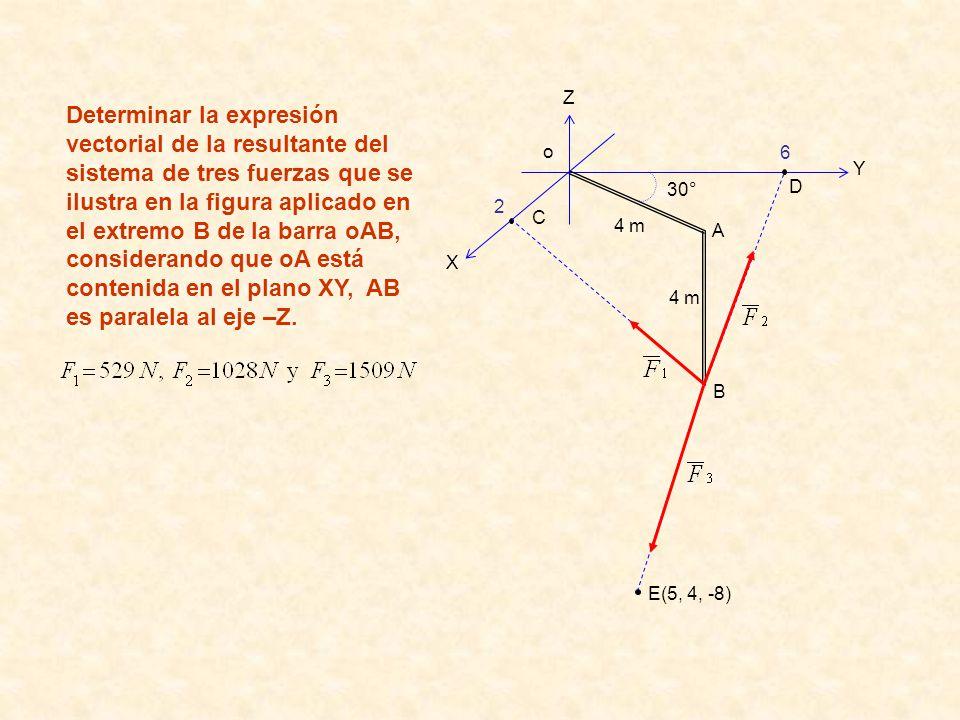 Z X. Y. 2. 6. o. 4 m. B. A. 30° C. D. E(5, 4, -8)