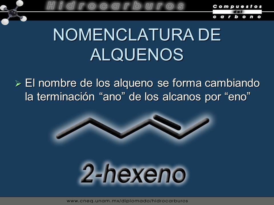 NOMENCLATURA DE ALQUENOS