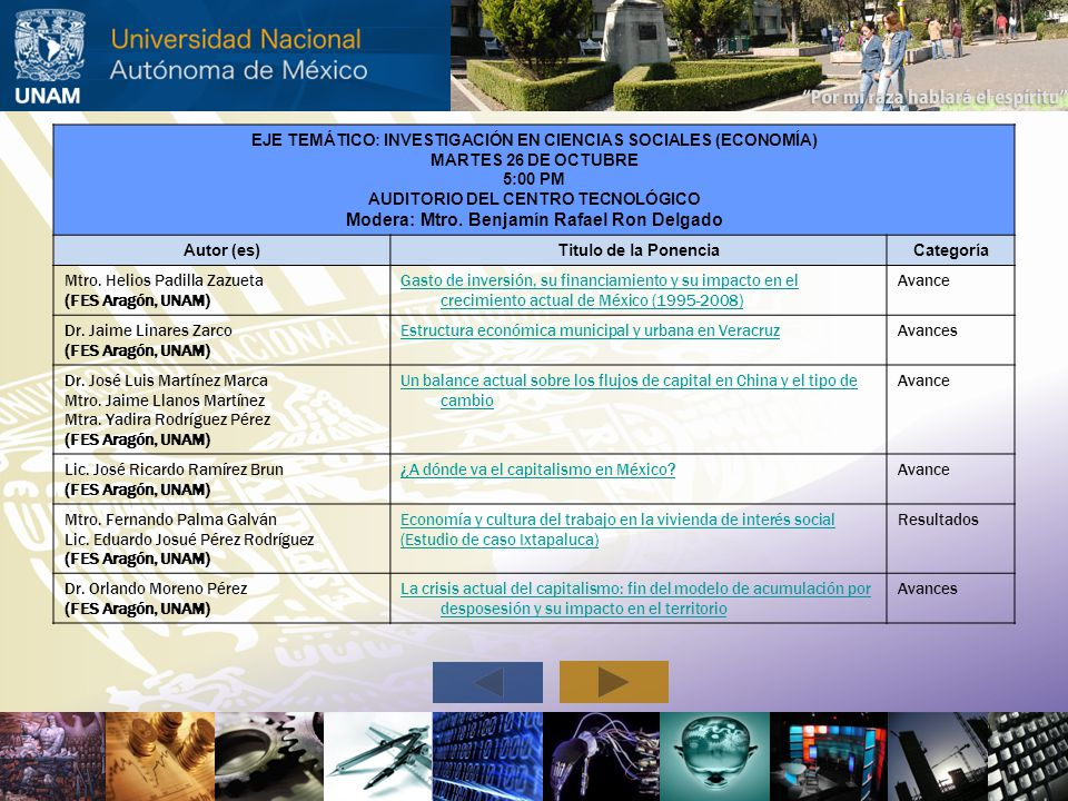 Modera: Mtro. Benjamín Rafael Ron Delgado