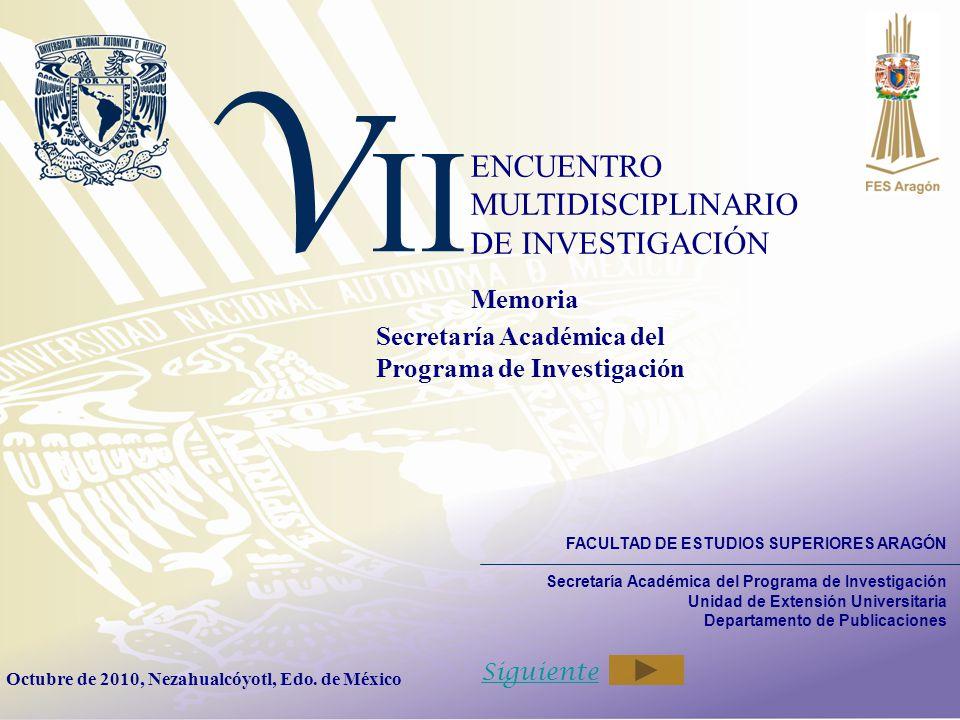 VII ENCUENTRO MULTIDISCIPLINARIO DE INVESTIGACIÓN Memoria