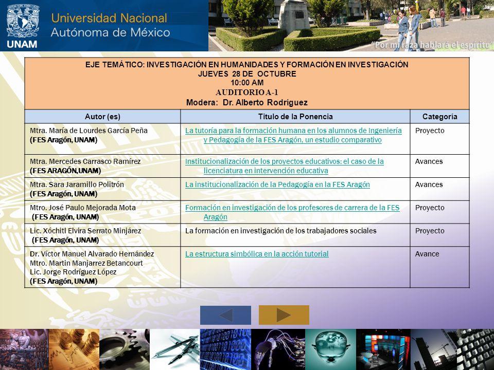 Modera: Dr. Alberto Rodríguez