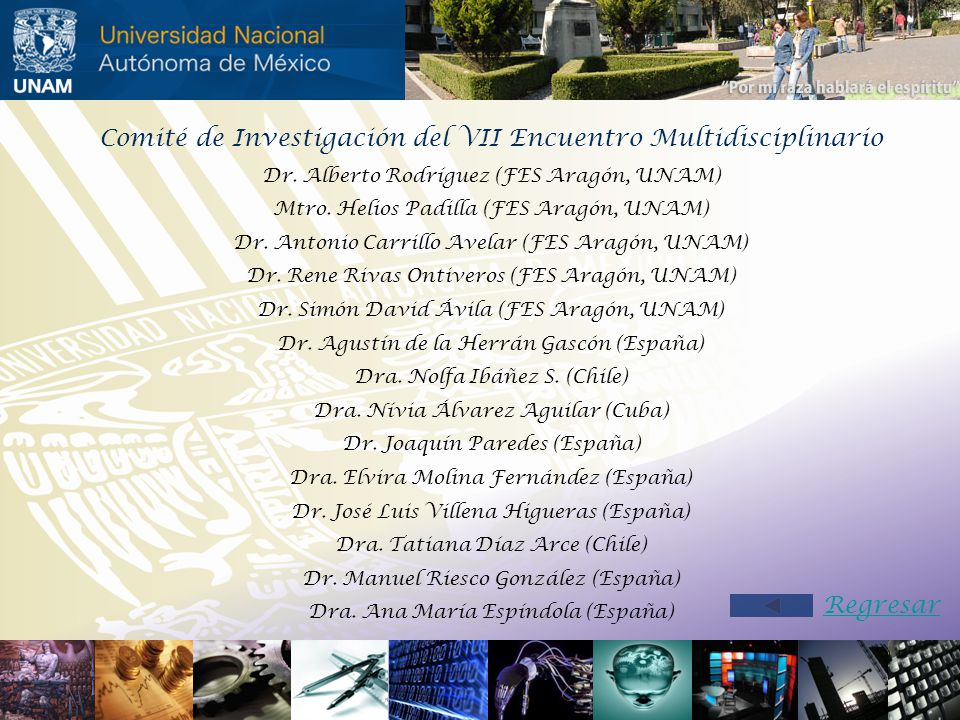 Comité de Investigación del VII Encuentro Multidisciplinario