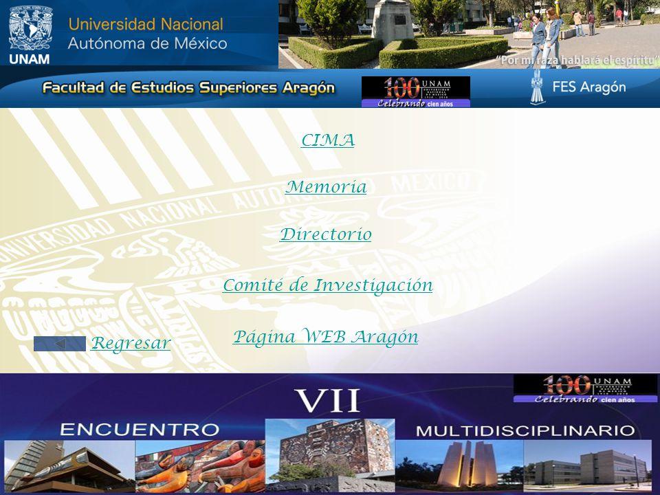 CIMA Memoria Directorio Comité de Investigación Página WEB Aragón Regresar