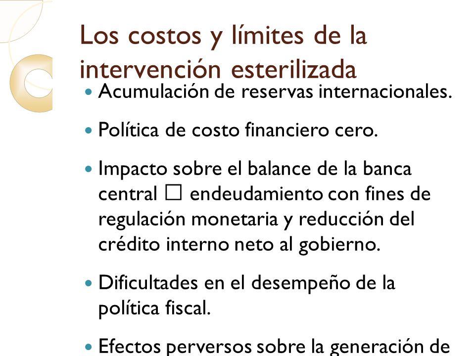 Los costos y límites de la intervención esterilizada