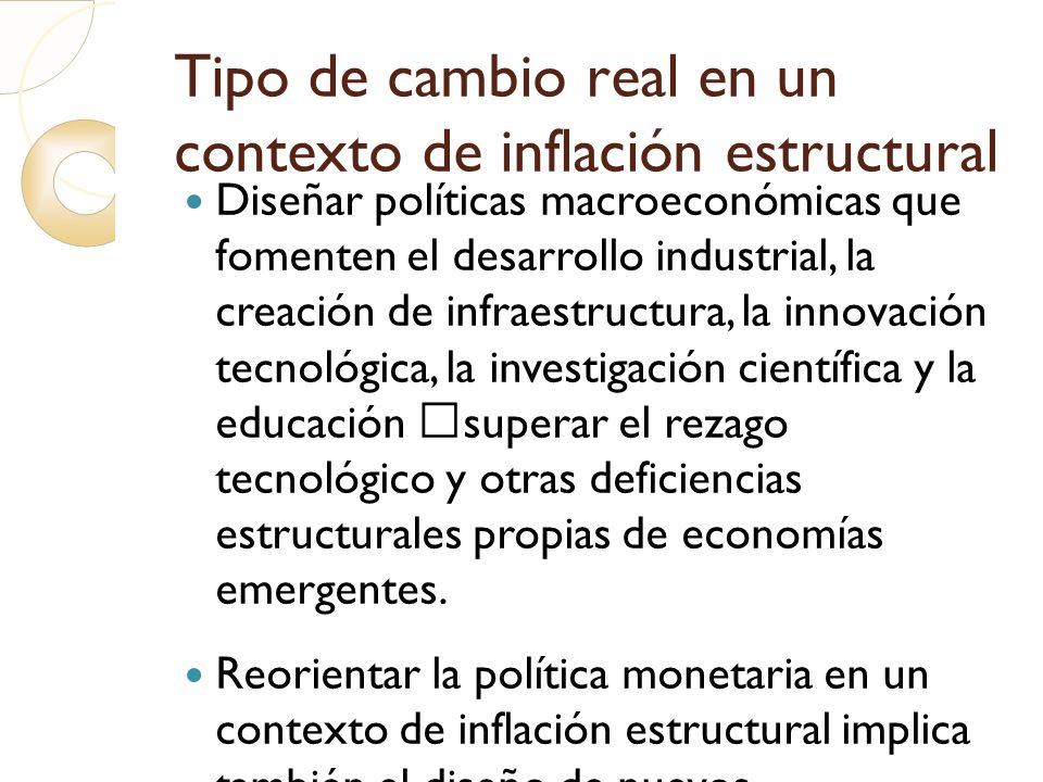 Tipo de cambio real en un contexto de inflación estructural