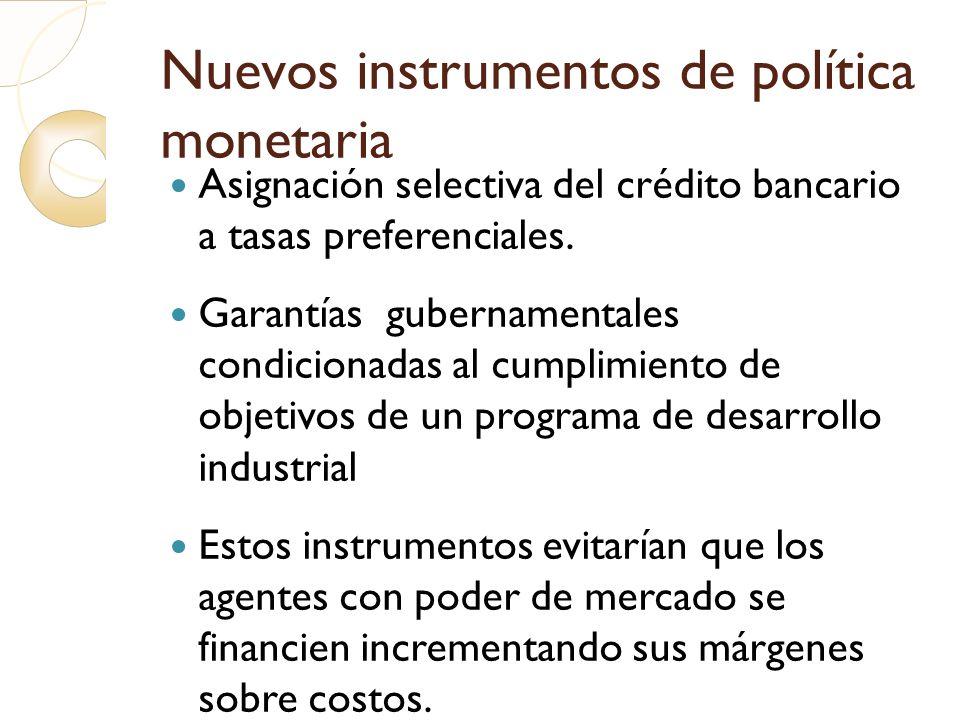 Nuevos instrumentos de política monetaria