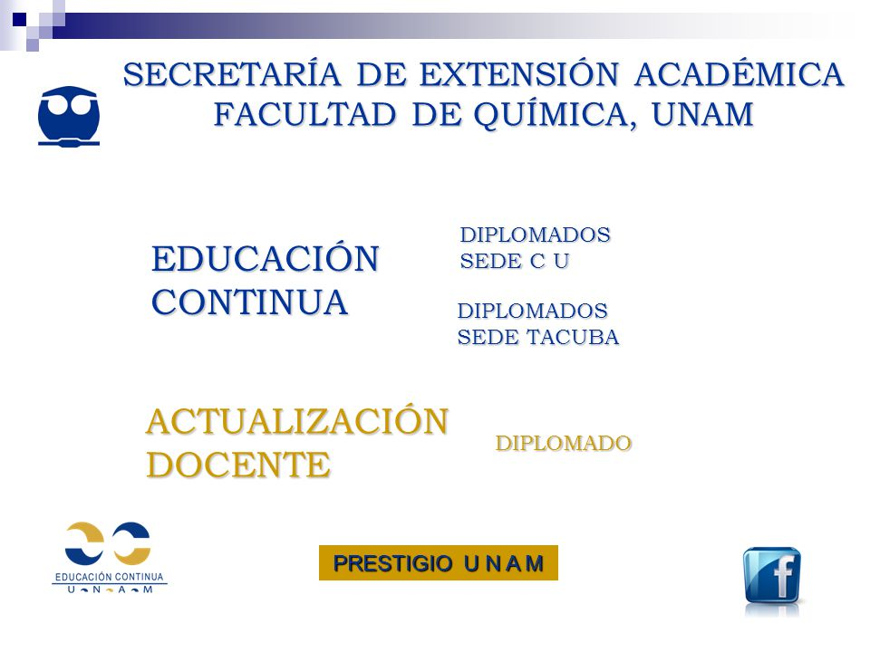 SECRETARÍA DE EXTENSIÓN ACADÉMICA FACULTAD DE QUÍMICA, UNAM