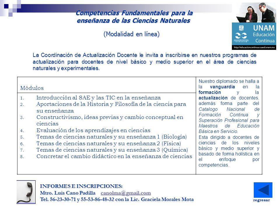 Competencias Fundamentales para la enseñanza de las Ciencias Naturales