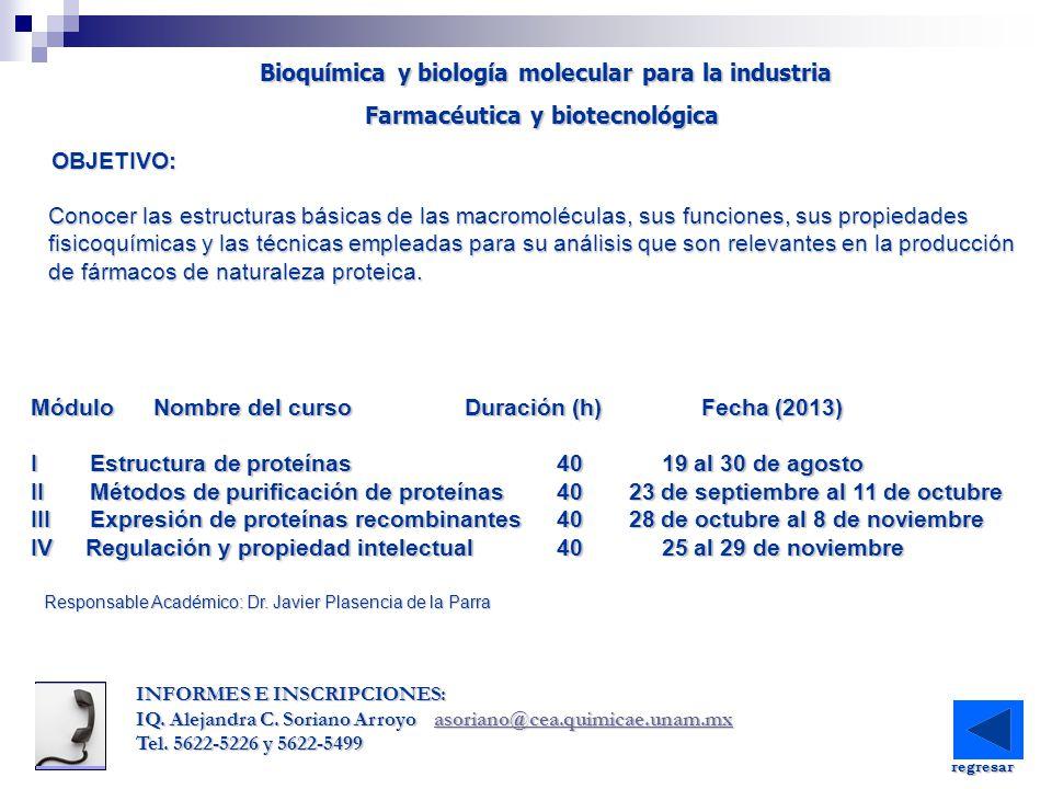 Bioquímica y biología molecular para la industria