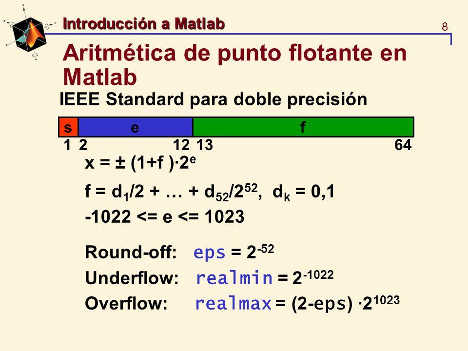 Aritmética de punto flotante en Matlab