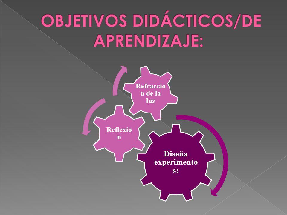 OBJETIVOS DIDÁCTICOS/DE APRENDIZAJE:
