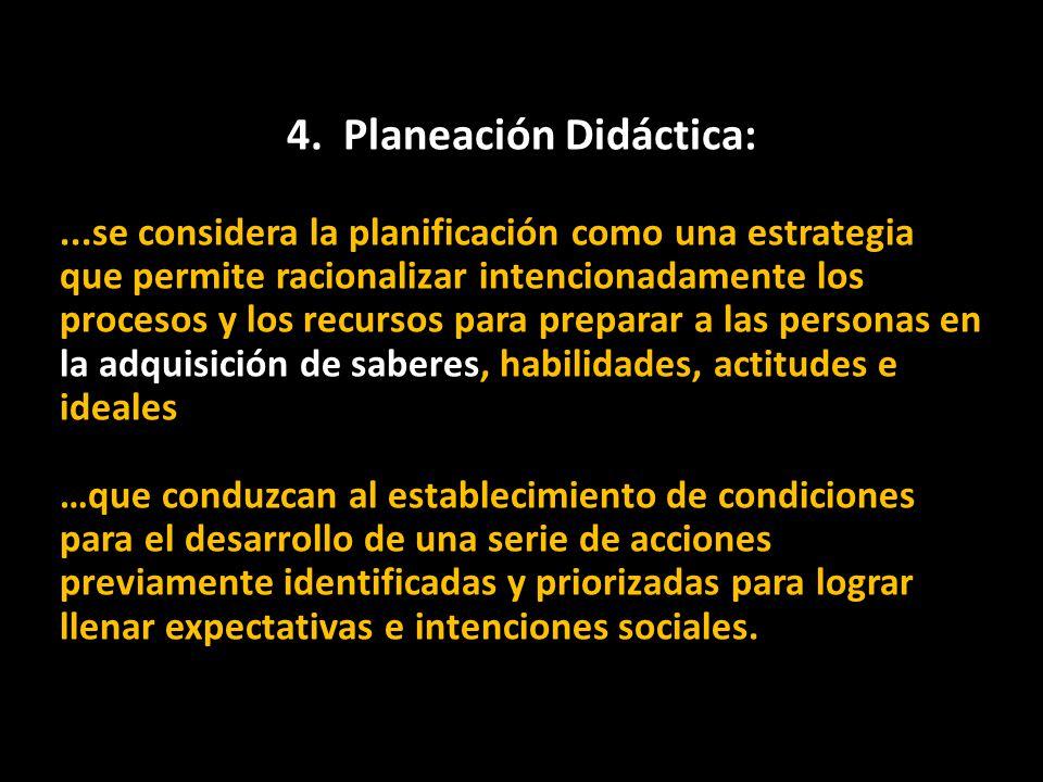 4. Planeación Didáctica: