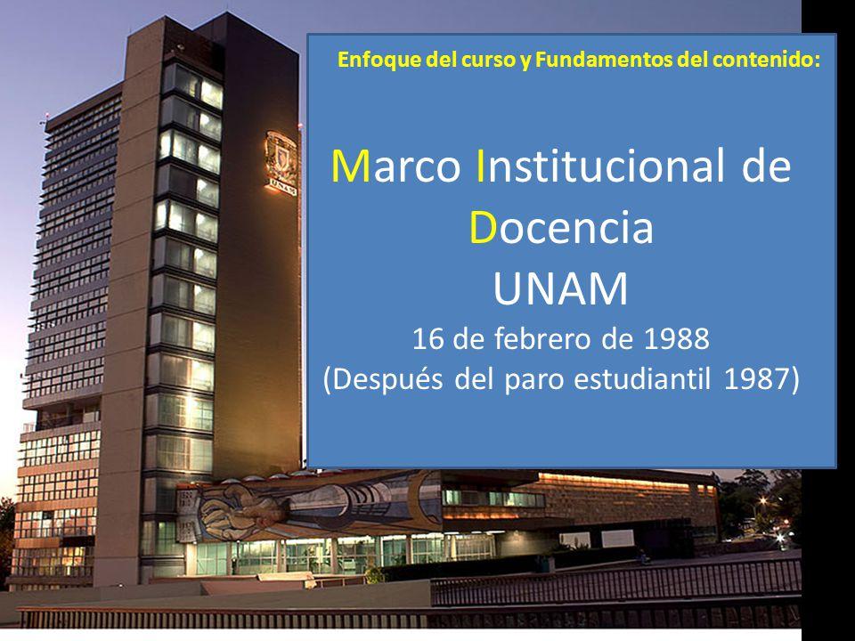Marco Institucional de Docencia