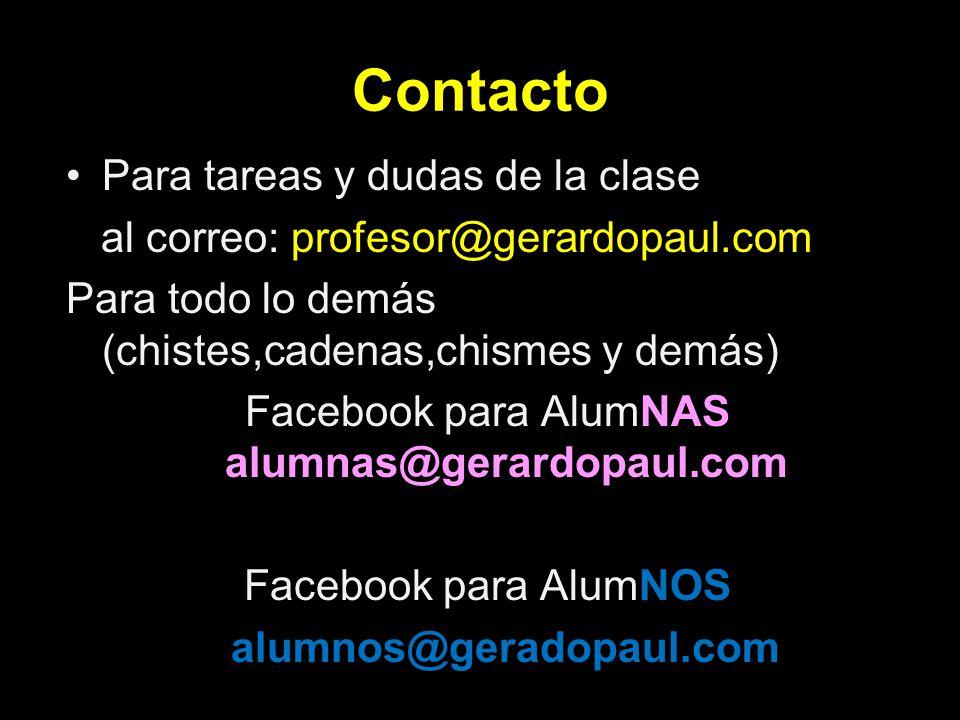 Facebook para AlumNAS alumnas@gerardopaul.com