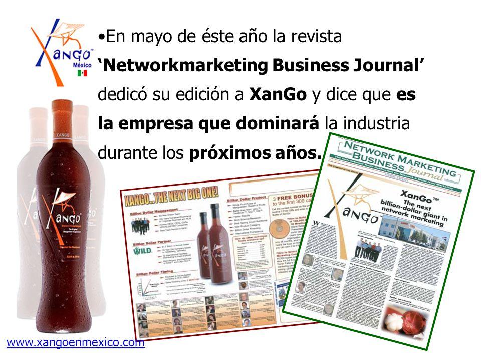 En mayo de éste año la revista 'Networkmarketing Business Journal' dedicó su edición a XanGo y dice que es la empresa que dominará la industria durante los próximos años.