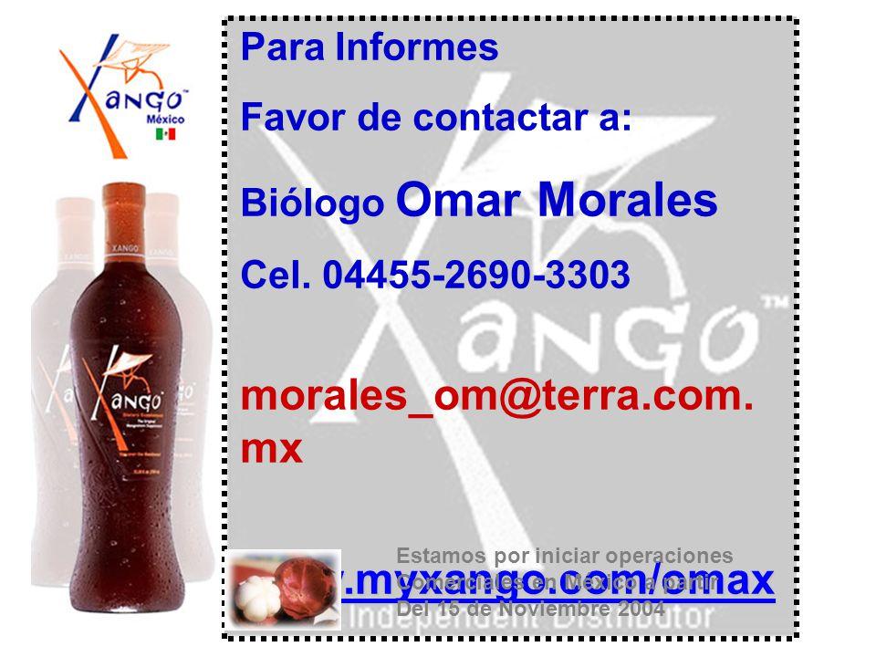 www.myxango.com/omax Omega_xango@walla.com Para Informes
