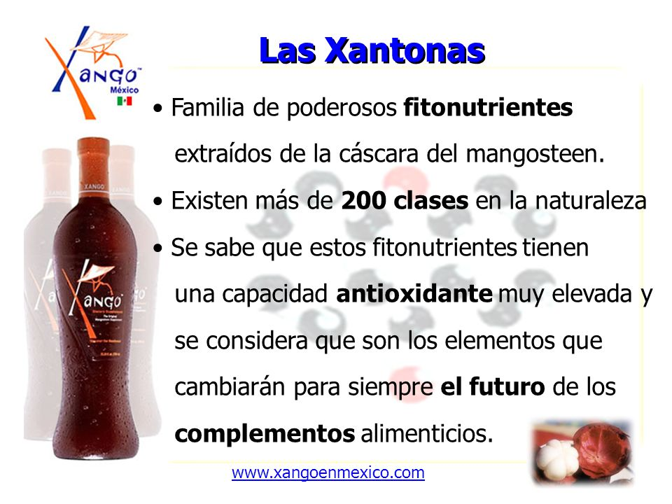 Las Xantonas Familia de poderosos fitonutrientes