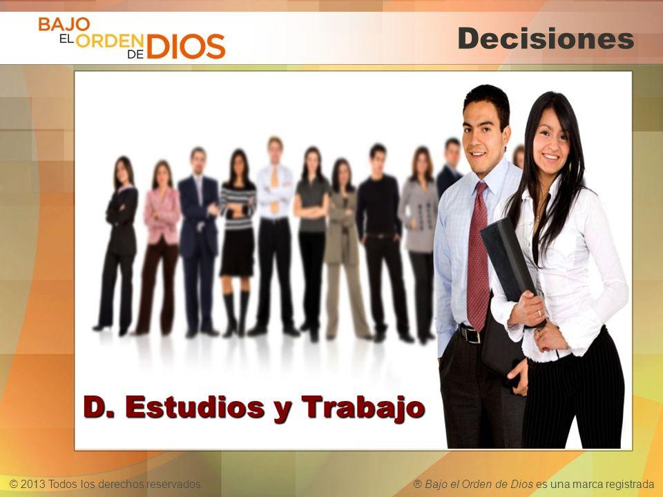 Decisiones D. Estudios y Trabajo