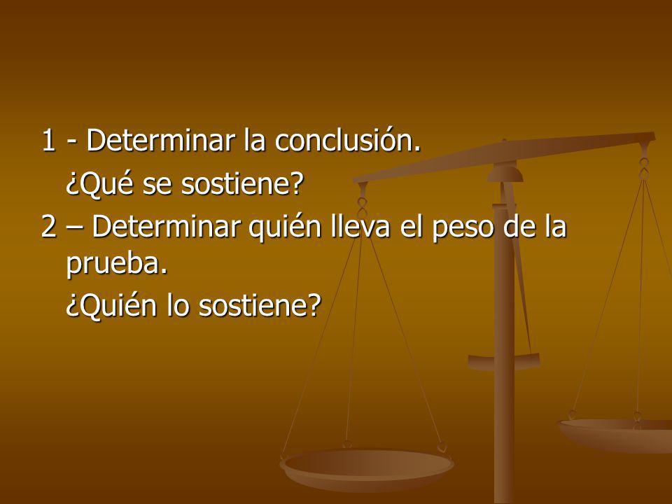 1 - Determinar la conclusión.