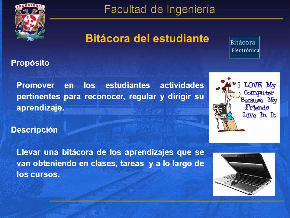 Bitácora del estudiante