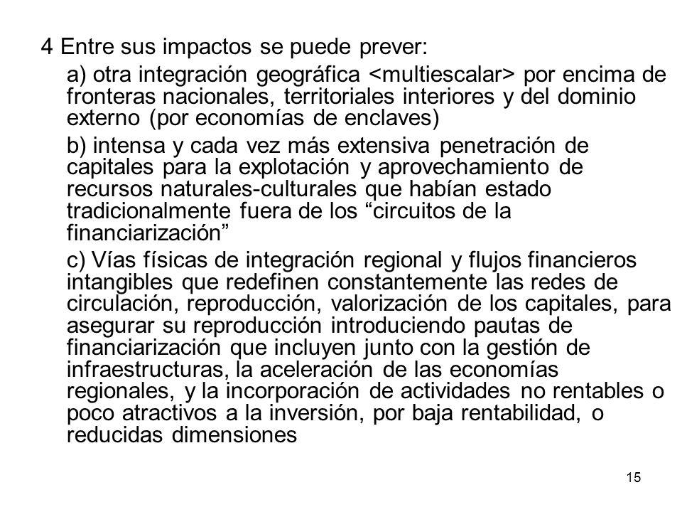 4 Entre sus impactos se puede prever: