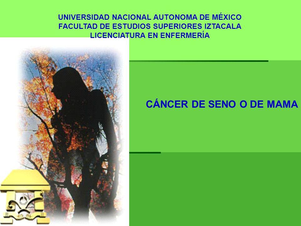 CÁNCER DE SENO O DE MAMA UNIVERSIDAD NACIONAL AUTONOMA DE MÉXICO