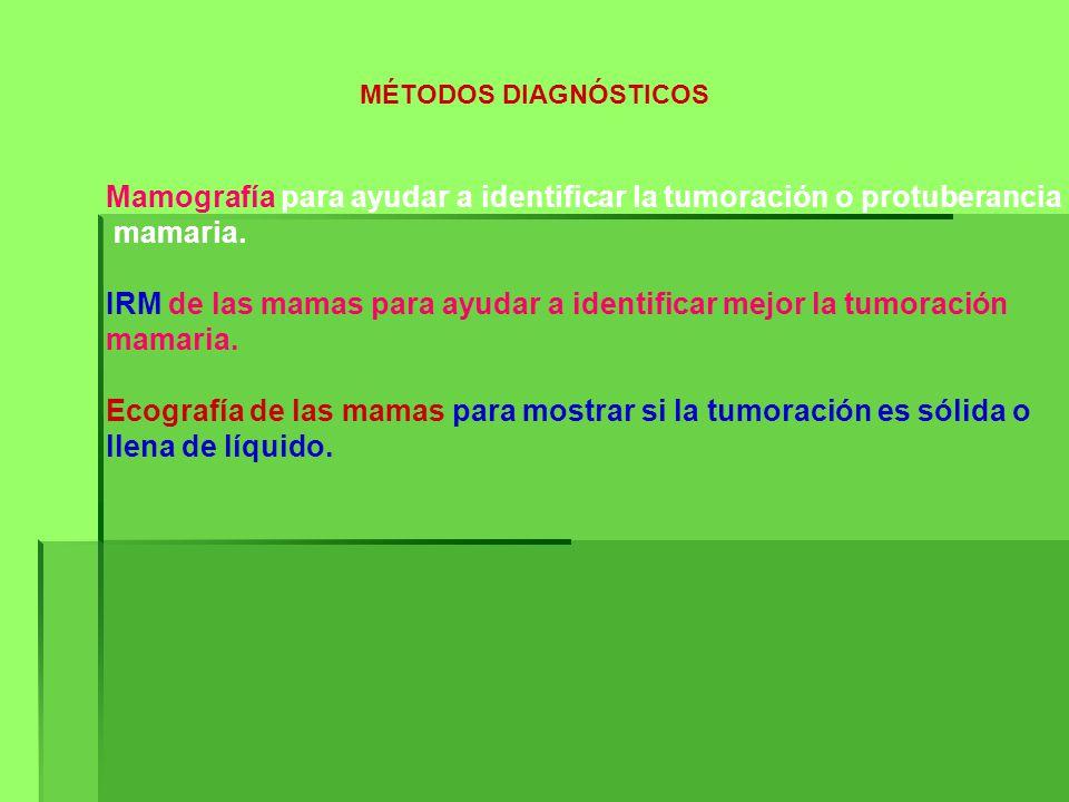 Mamografía para ayudar a identificar la tumoración o protuberancia