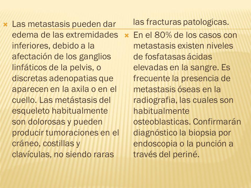 las fracturas patologicas.