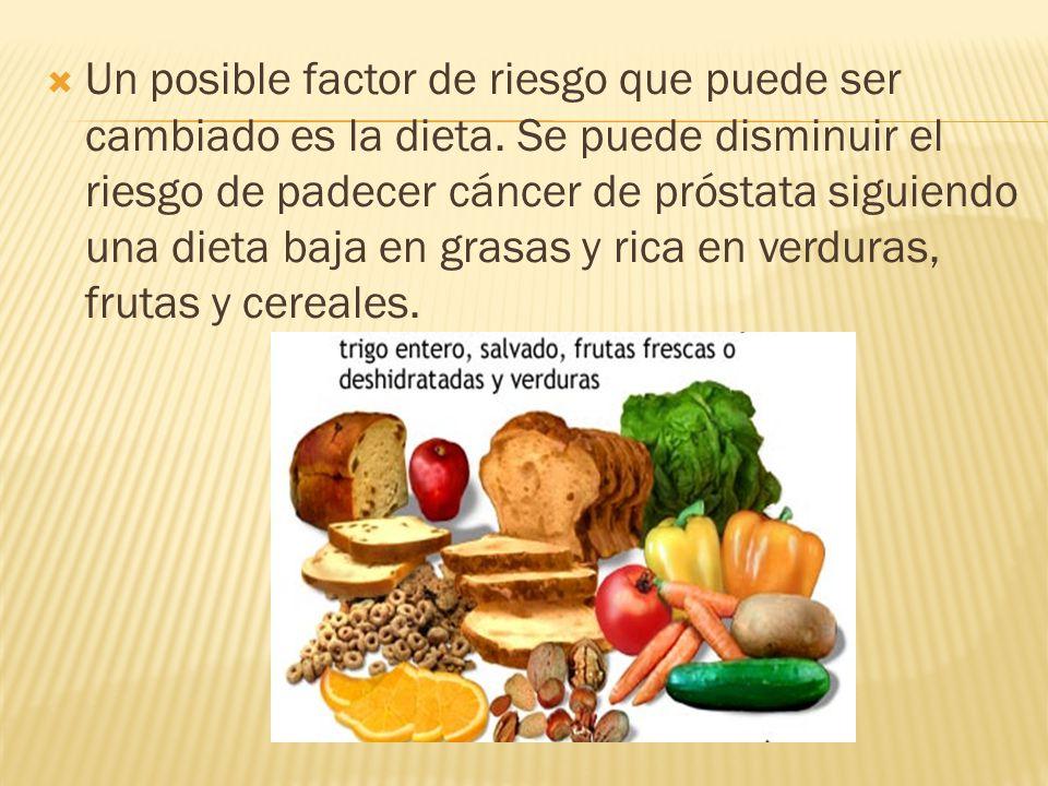 Un posible factor de riesgo que puede ser cambiado es la dieta