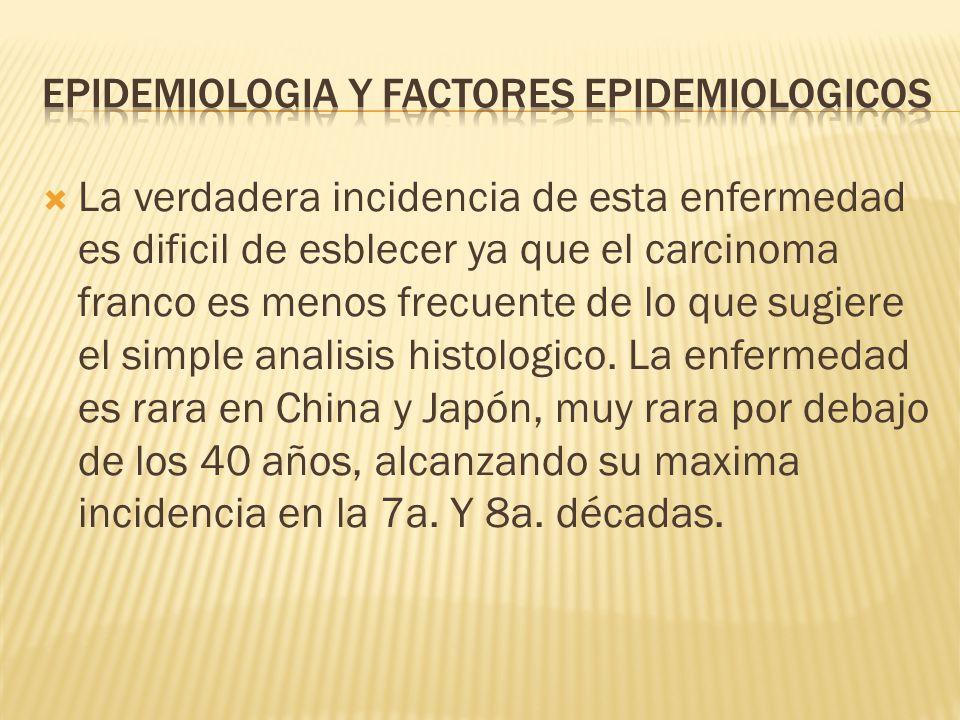 Epidemiologia y factores epidemiologicos