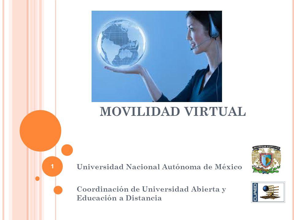MOVILIDAD VIRTUAL Universidad Nacional Autónoma de México