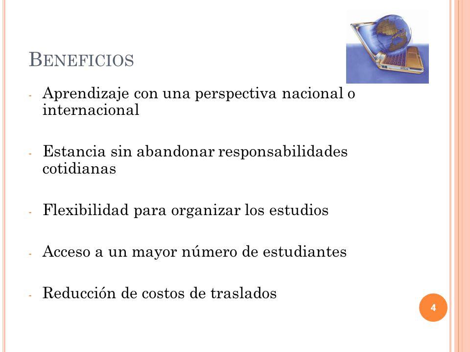 Beneficios Aprendizaje con una perspectiva nacional o internacional