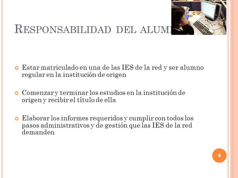 Responsabilidad del alumno