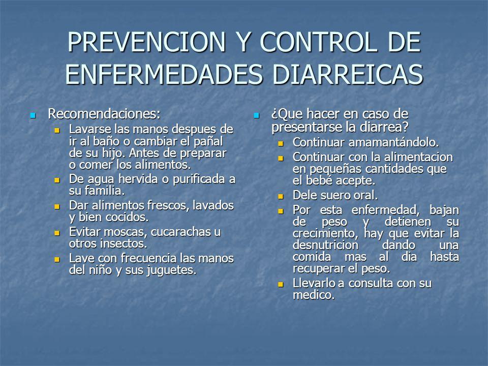 PREVENCION Y CONTROL DE ENFERMEDADES DIARREICAS