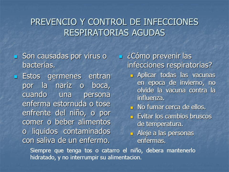 PREVENCIO Y CONTROL DE INFECCIONES RESPIRATORIAS AGUDAS