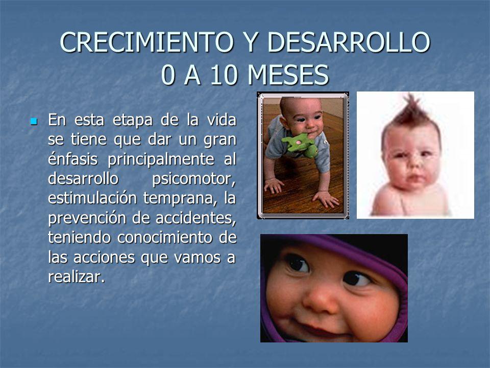 CRECIMIENTO Y DESARROLLO 0 A 10 MESES