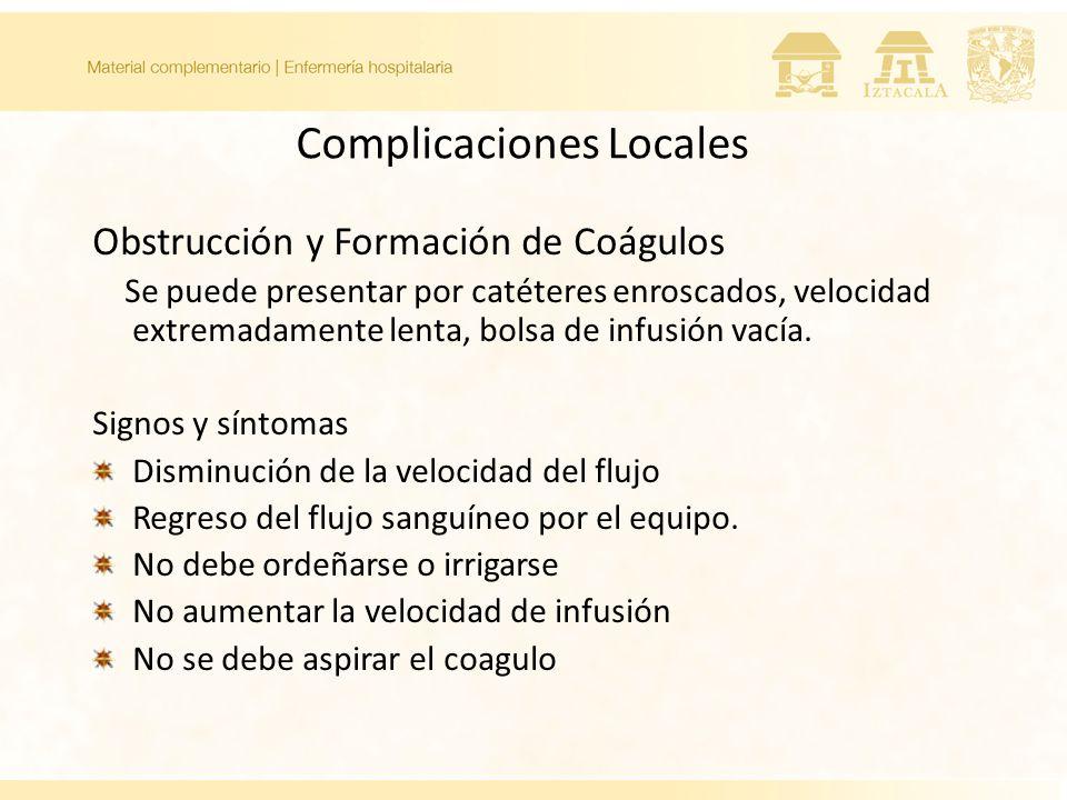 Complicaciones Locales