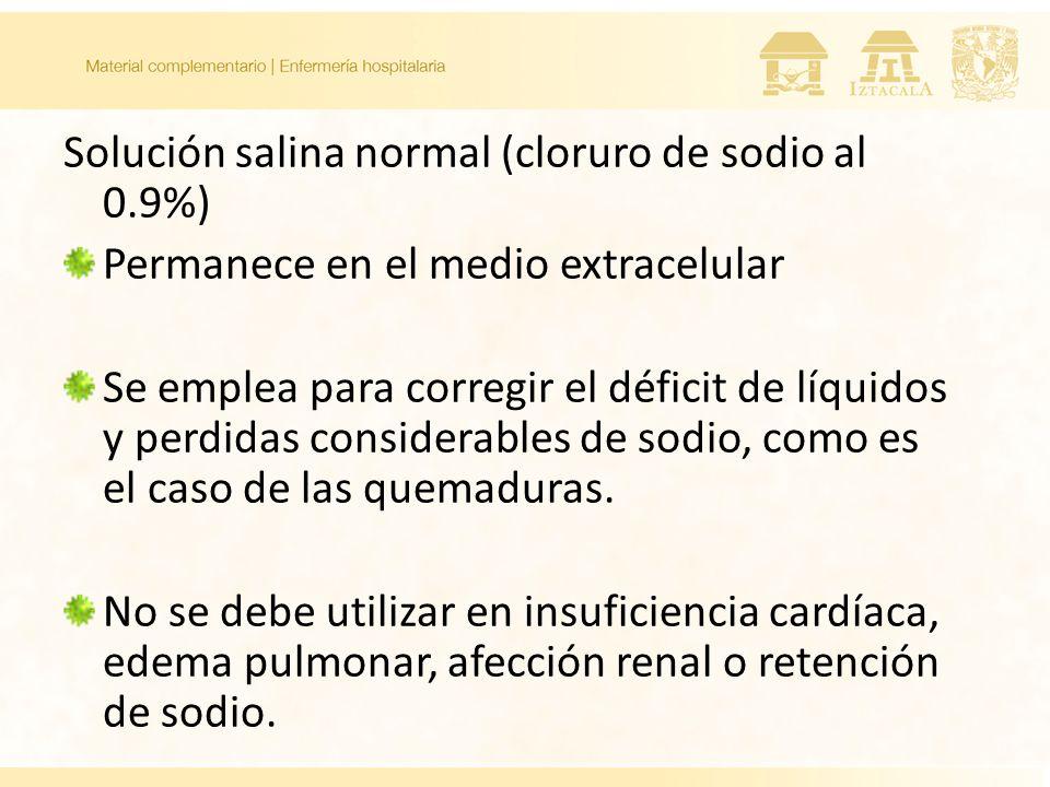 Solución salina normal (cloruro de sodio al 0.9%)