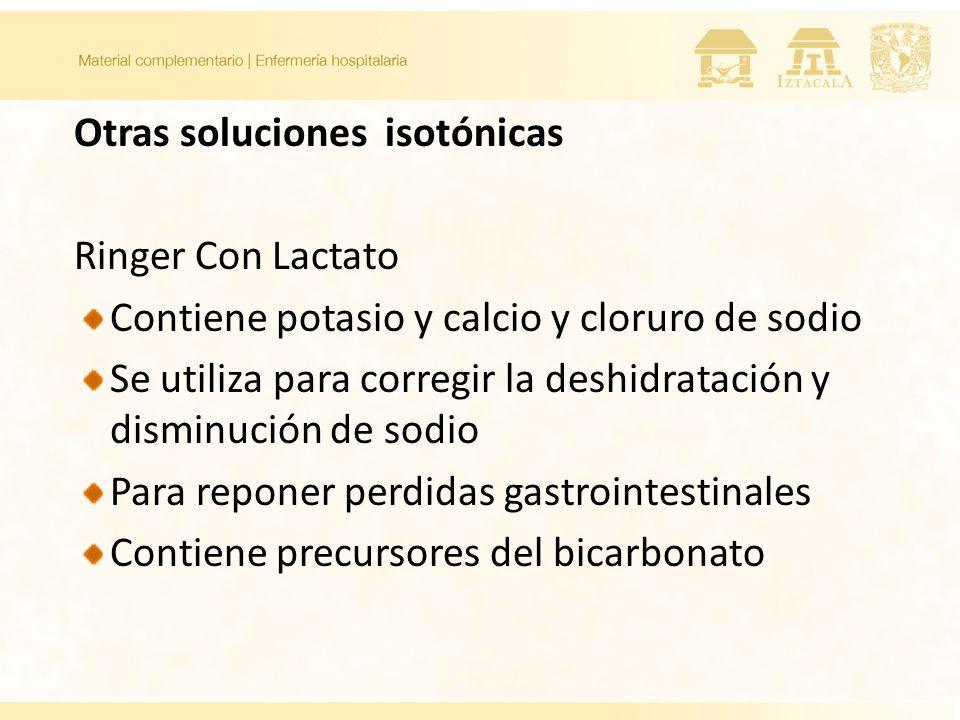 Otras soluciones isotónicas