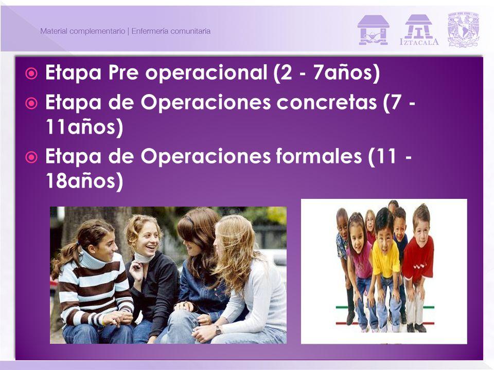 Etapa Pre operacional (2 - 7años)