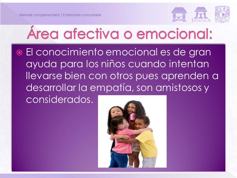 Área afectiva o emocional:
