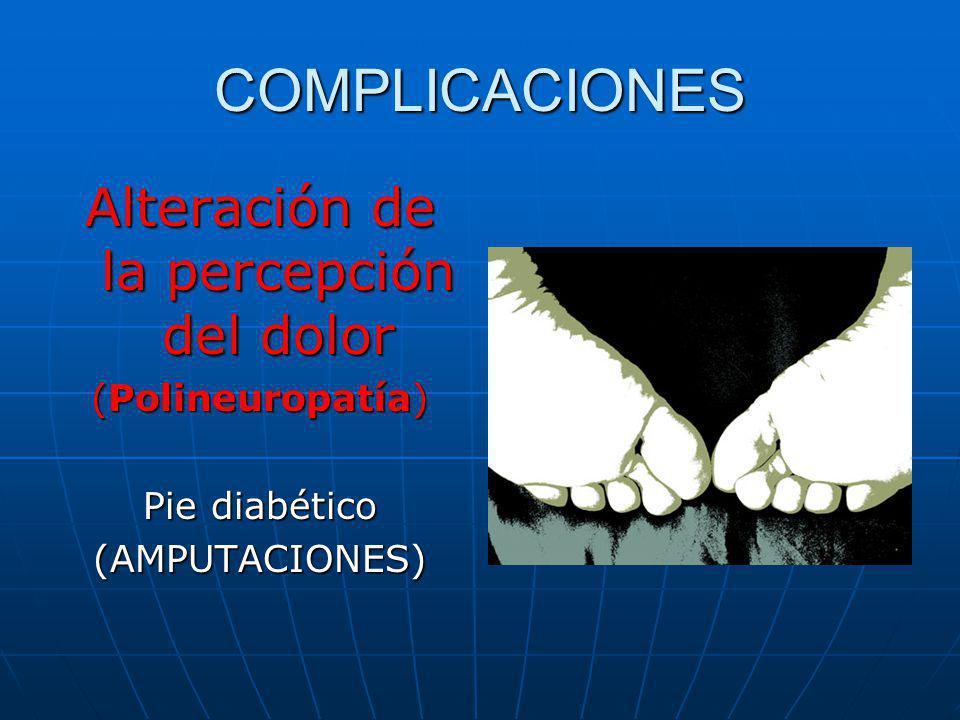Alteración de la percepción del dolor