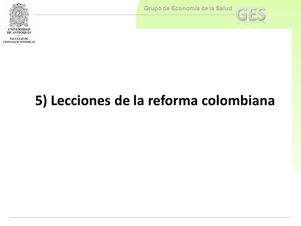 5) Lecciones de la reforma colombiana