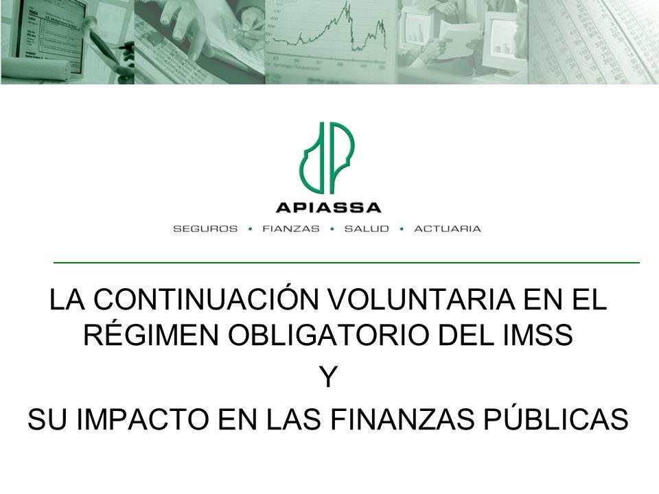 LA CONTINUACIÓN VOLUNTARIA EN EL RÉGIMEN OBLIGATORIO DEL IMSS Y