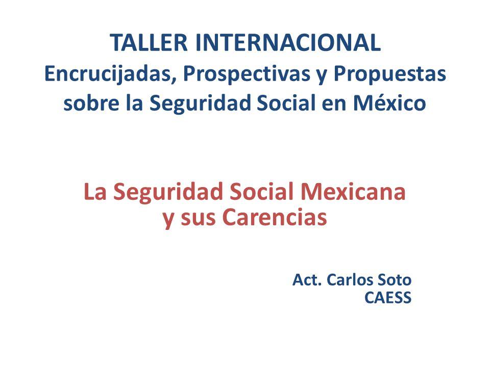 La Seguridad Social Mexicana y sus Carencias Act. Carlos Soto CAESS