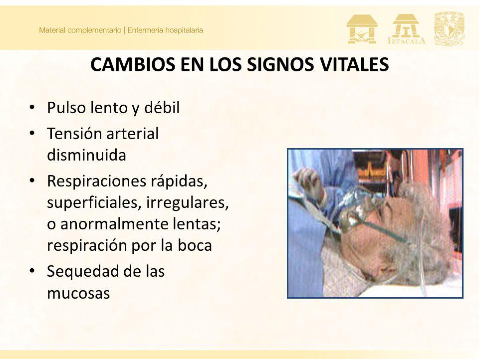 CAMBIOS EN LOS SIGNOS VITALES