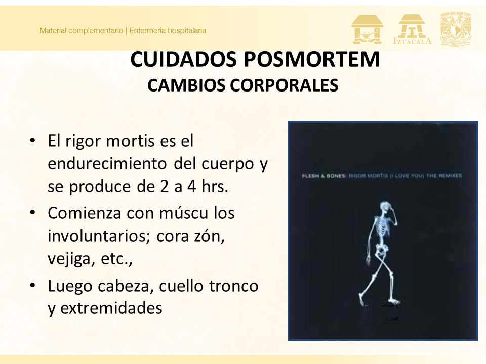 CUIDADOS POSMORTEM CAMBIOS CORPORALES