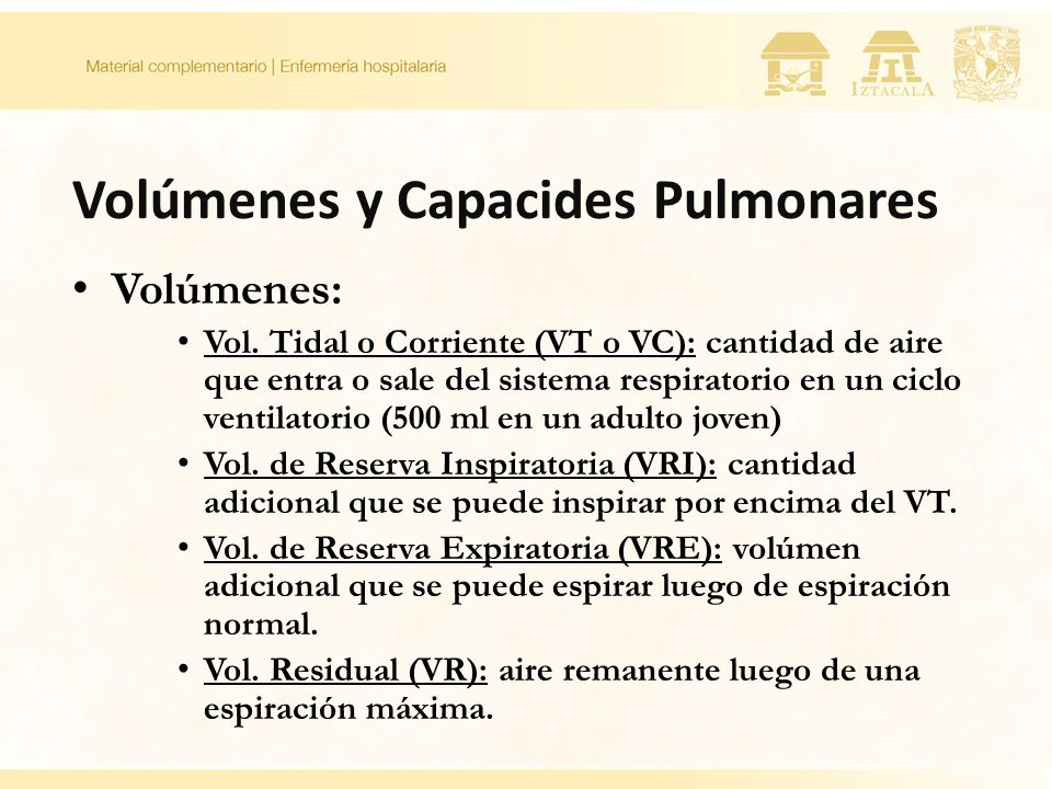Volúmenes y Capacides Pulmonares